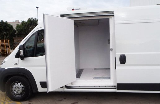 Body of an insulated panel van.