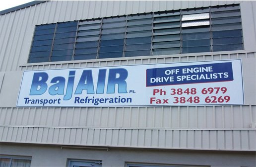BajAir Transport Refrigeration sign