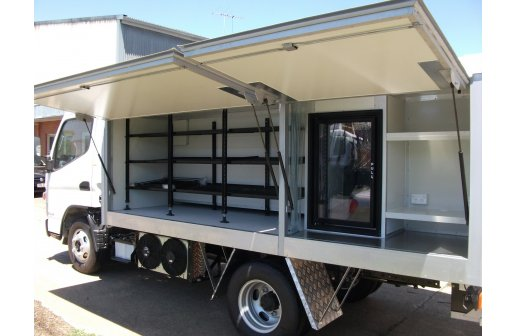 Customised refrigerated truck